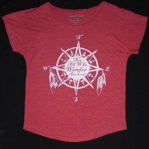 WOMENS SHIRT NOT ALL WHO WANDER ARE LOST S